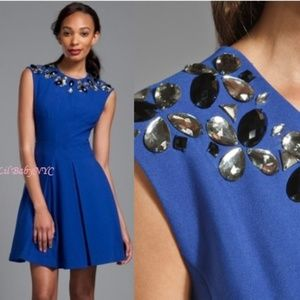 NWT Tracy Reese Jewel neck dress in Cobalt Blue